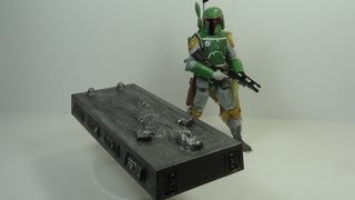 Star Wars Black Series 6 Inch Boba Fett and Han Solo in Carbonite SDCC 2013 Exclusive Figure Review
