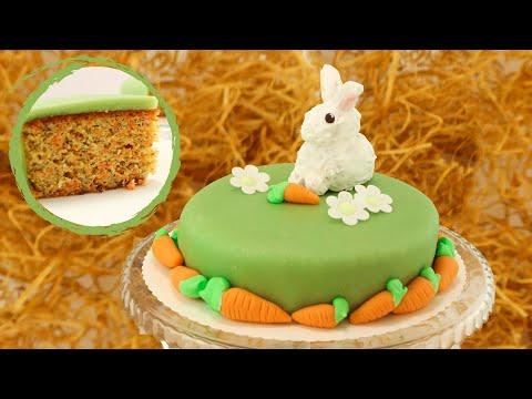 Carrot Cake mit Mandeln I sehr saftiger Karottenkuchen
