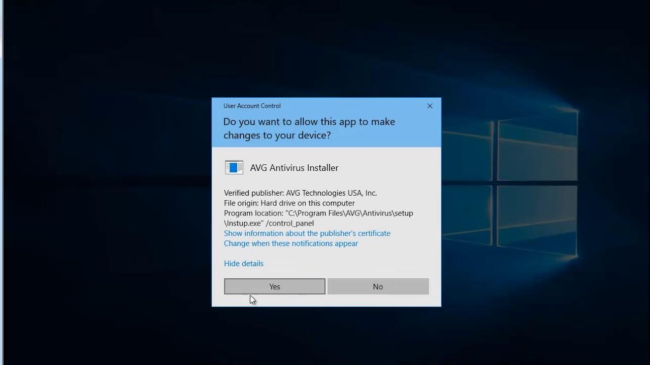 Uninstall AVG AntiVirus Free 2019 in Windows