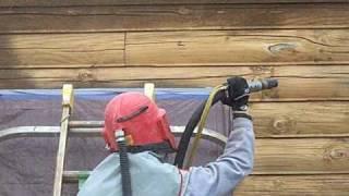 Corn Cob & Glass Blasting A Lincoln Log Home In Valparaiso Indiana Log Home