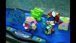 СОБРАЛ САМЫЕ НЕОБЫЧНЫЕ ГОЛОВОЛОМКИ | влог | Соревнования по сборке кубика Рубика