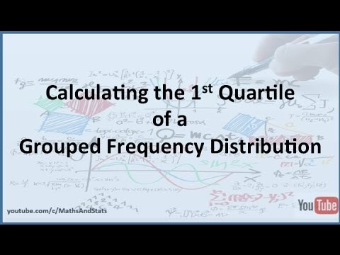 how to find 1st quartile
