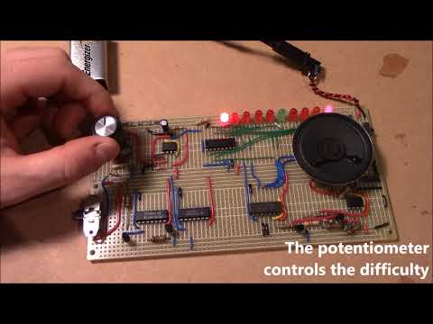 Catch That LED! [1080p60fps] (led game electronic circuit on PCB)