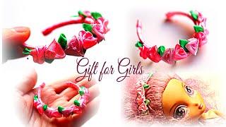 🌺ПОДАРКИ ДЛЯ ДЕВОЧЕК / Цветы из Лент Видео /Ободки Канзаши /  KANZASHI / DIY(Очень ценю Ваши ЛАЙКИ и КОММЕНТАРИИ!!! ❤СПАСИБО❤ В этом видео показано как сделать подарки девочкам на..., 2016-03-06T19:50:19.000Z)