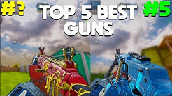 TOP 5 BEST GUNS in COD MOBILE! SEASON 4 RANKED Official After Update! COD Mobile