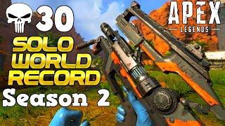 Apex Season 2 *WORLD RECORD* Solo 30+ Kills (on Console not that it matters)