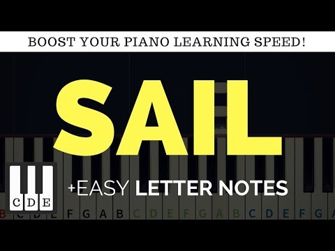 SAIL 🎹 letter notes / sheet for piano 🎹