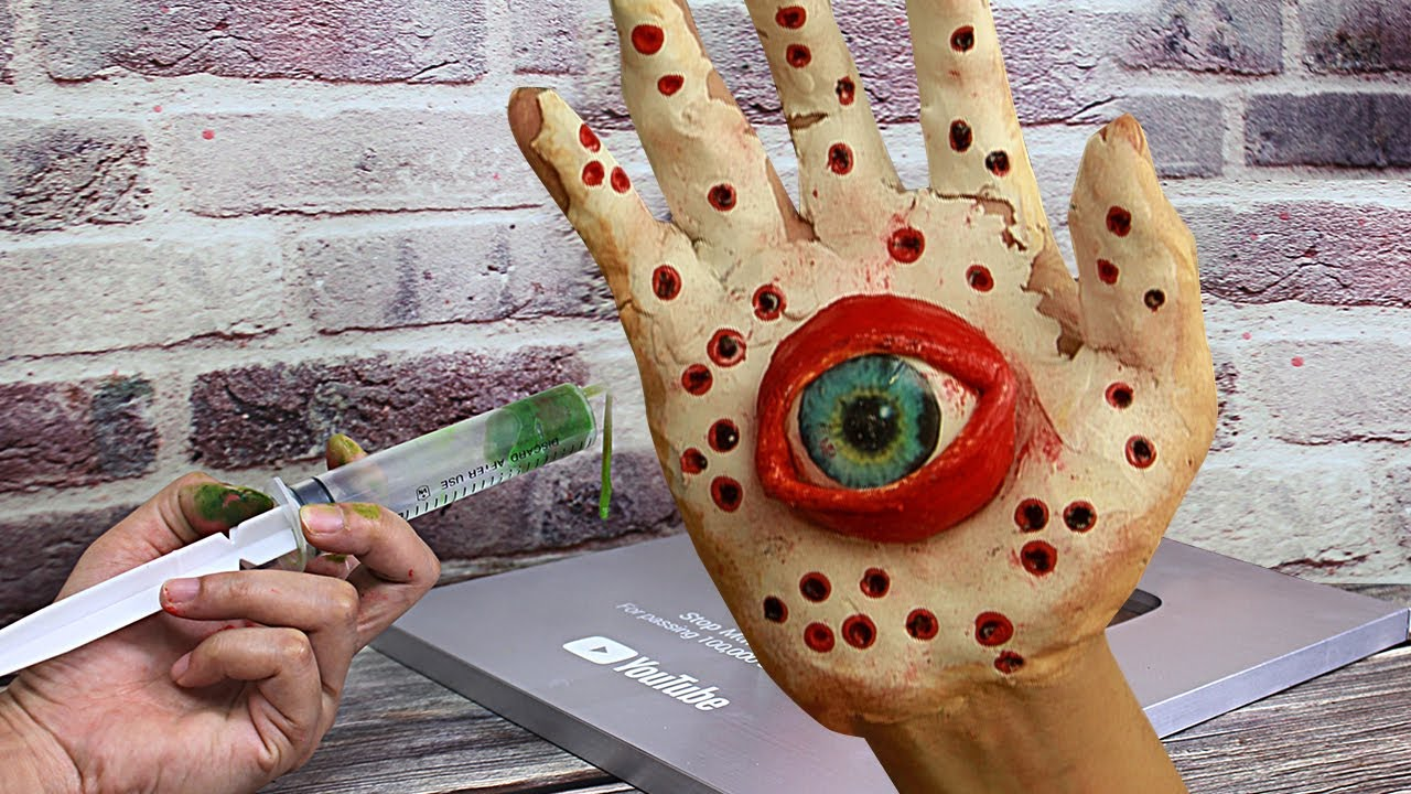 Stop Motion Cooking - Making HAND CAKE from Cooking stuff Funny Video   Cooking ASMR
