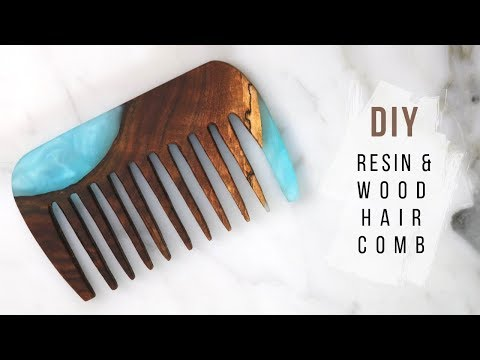 DIY Epoxy Resin & Live Edge Wood Hair Comb | Collab With Pneumatic Addict