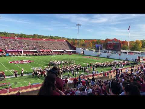Halftime Preparation - UMass Amherst Minuteman Marching Band - October 21, 2017