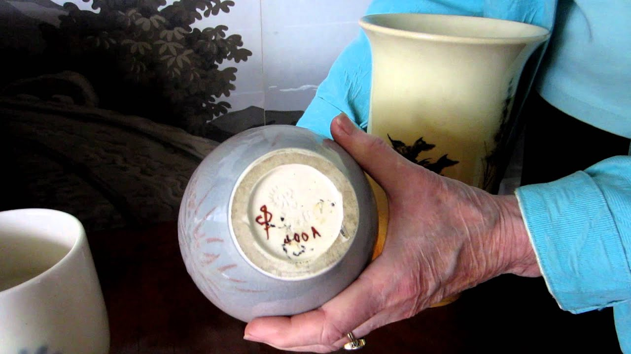 How to Identify Rookwood Pottery Marks  Kovels com    YouTube YouTube