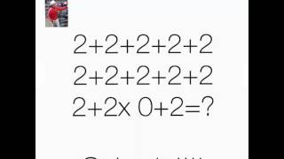 Mathematics Quiz with 2+2+2+2+2 ... Can you solve this?