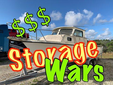 STORAGE AUCTION SCREWED ME?   BOAT AUCTION   Broken Parker Pilot House Project Part 1