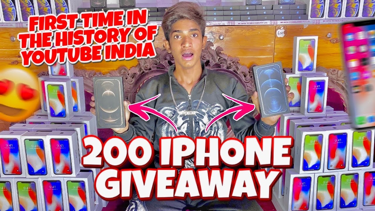 Download 200 X IPHONE GIVEAWAY 🤑🤑 | WORLD'S LARGEST GIVEAWAY | OPPORTUNITY TO WIN IPHONE 😊 | GTRVLOGS