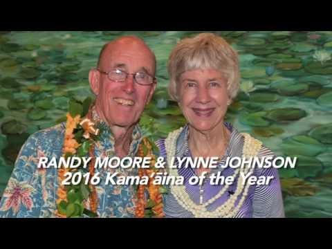 Lynne Johnson and Randy Moore - 2016 Kamaaina of the Year