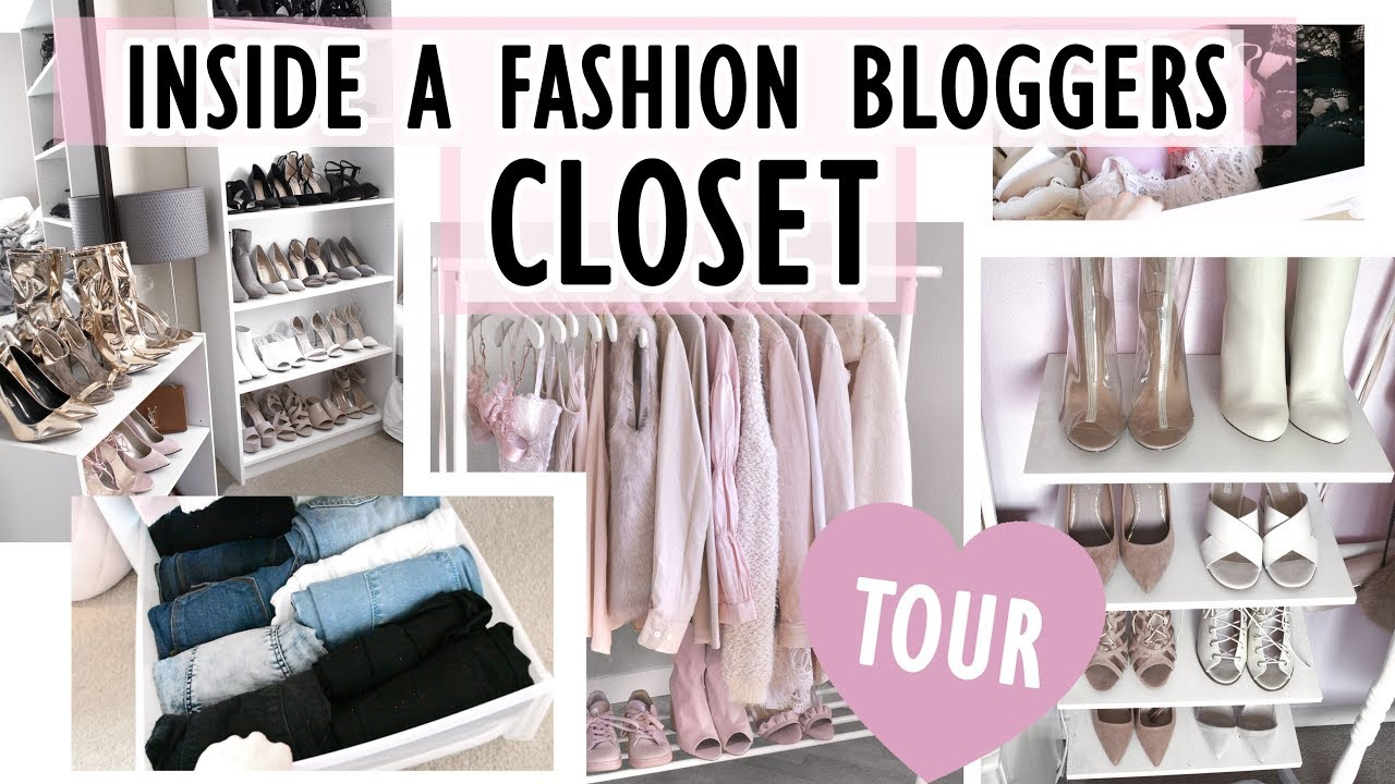 CLOSET TOUR ♥ // Inside A Fashion Bloggers Closet // HOW I ORGANIZE IN A  SMALL CLOSET