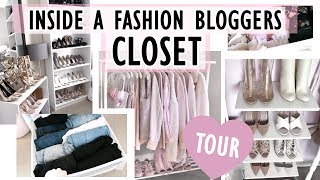 ♥ CLOSET TOUR ♥ // Inside A Fashion Bloggers Closet // HOW I ORGANIZE IN A SMALL CLOSET