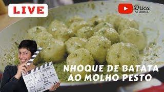 📍AO VIVO 📍 Nhoque de batata e Molho Pesto de ora-pro-nobis | Drica na Cozinha | Episódio #256