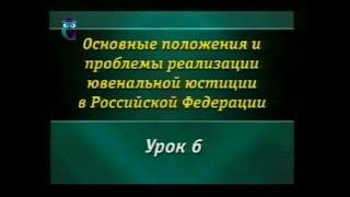 Урок 6. Особенности уголовной ответственности и наказания несовершеннолетних