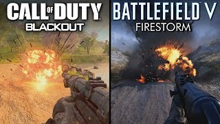 Battlefield V - Firestorm vs Call of Duty: Black Ops 4 - Blackout | Direct Comparison