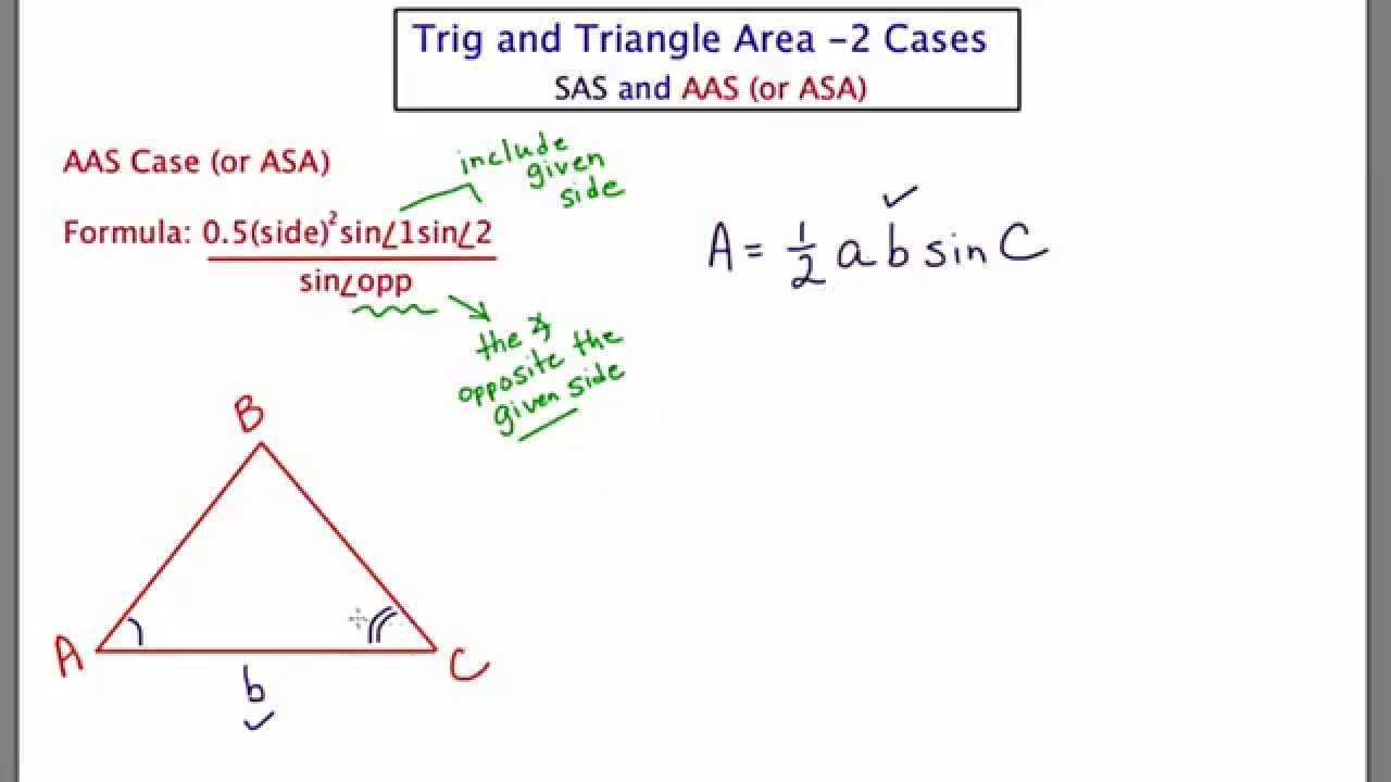Mathcamp321: Trig  Using Trig To Find Triangle Area