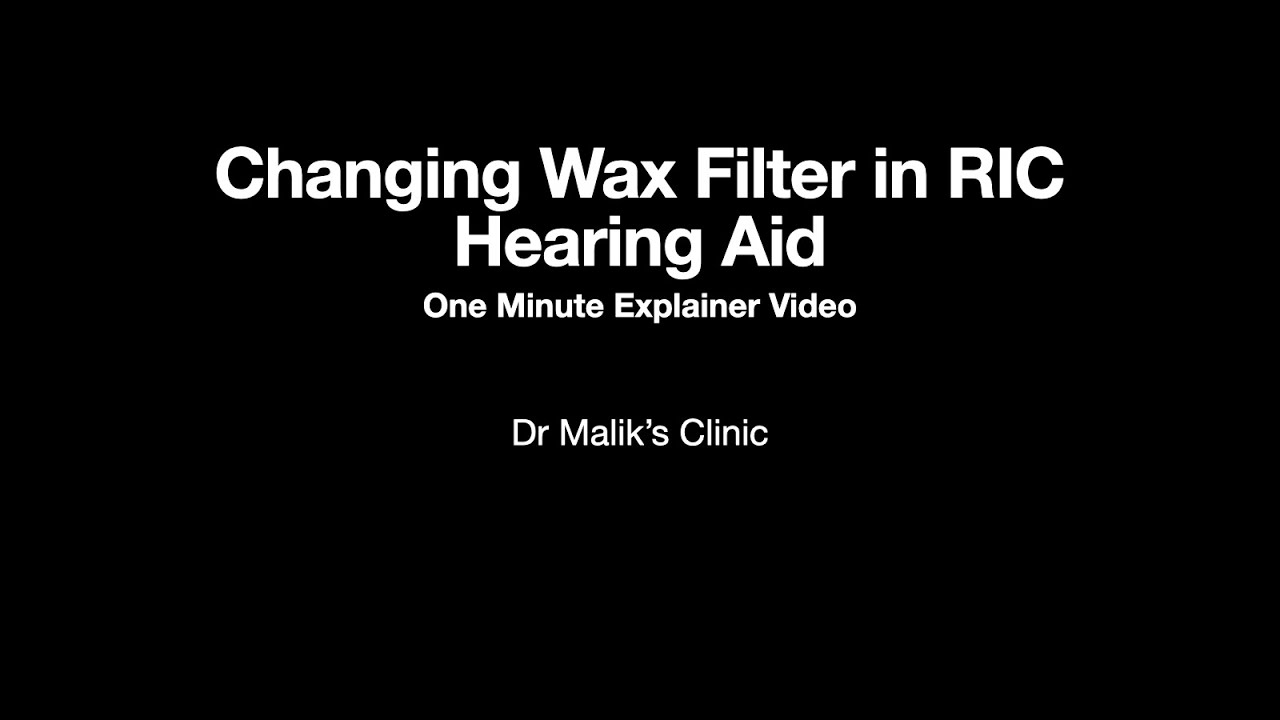 Changing Wax Filters In RIC Hearing aids