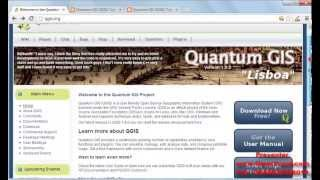 gis lab practice video 2 quantumgis software overview and installation