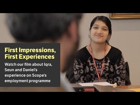 Employment course for young disabled people - Scope video