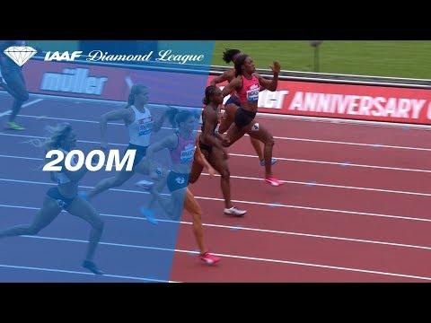 Jenna Prandini 22.16 Wins Women's 200m - IAAF Diamond League London 2018