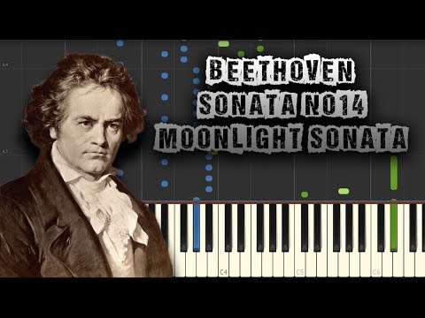 Beethoven  Sonata Quasi Una Fantasia  Moonlight Sonata  Piano Tutorial Download MIDI + Sheets
