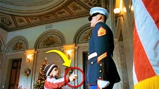Boy Gives Marine A Secret Note, And Suddenly He Calls For Backup