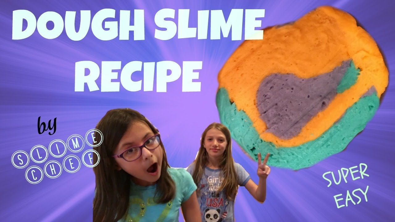 The Best Dough Slime Recipe No Glue 2 Ingredient Easy Recipe Play