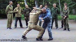 Защита от ударов. Архивные съемки. Пластунский рукопашный бой, система боя Леонид Полежаев.