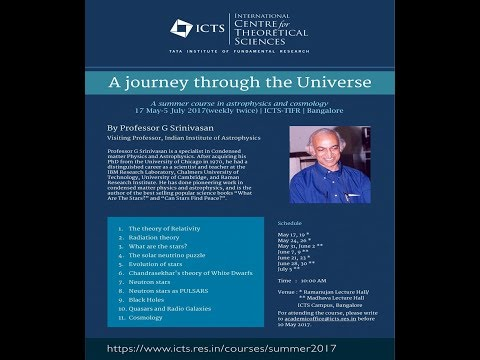 The Present Revolution in Astronomy - Geometry of the Universe (Lecture - 12) by G Srinivasan