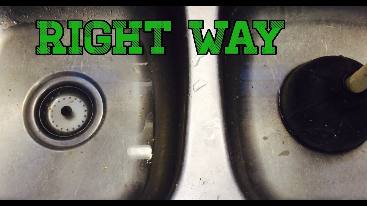 How to Unclog a Kitchen Sink Try This LIFE HACK First