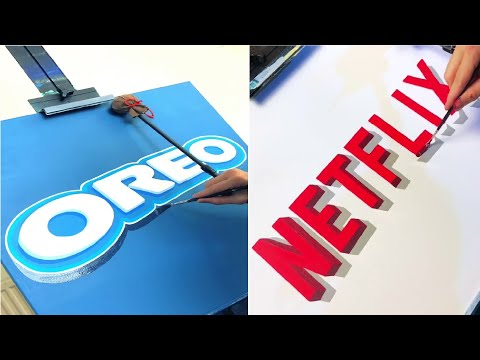 Artist Accurately Paints Brand Logos