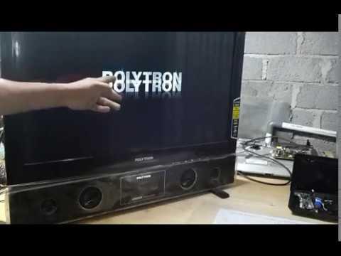 Cara Perbaiki Tv Led Polytron Bergaris Youtube