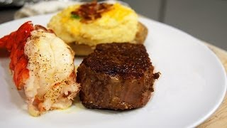 Surf and Turf Recipe - Beef Ribeye Filet and Lobster Tail
