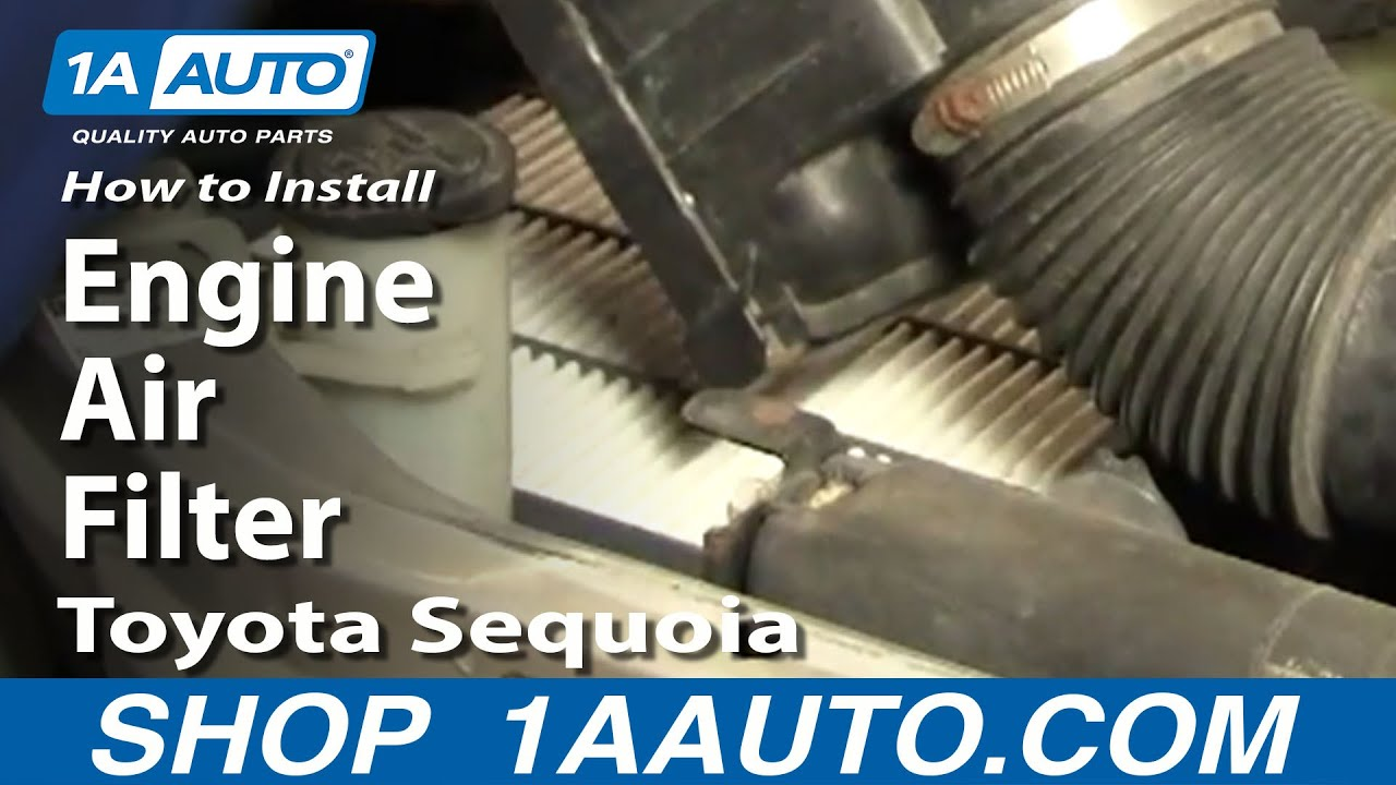 replace engine air filter   toyota sequoia