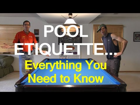 POOL ETIQUETTE ... Everything You Need To Know