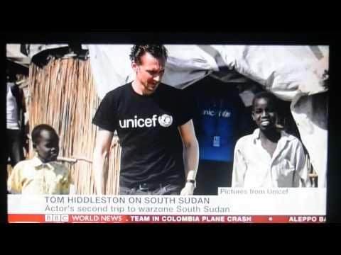 Tom Hiddleston at BBC World News about UNICEF - Nov 29, 2016