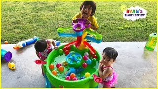 Ryan Pretend Play with Little Tikes Water Table Toys with Emma and Kate!