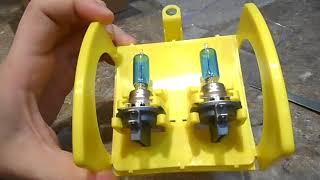 Замена лампочек в противотуманках Дэу Джентра/Daewoo Gentra. Распаковка и установка лампочек цоколь.