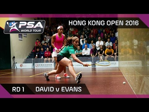 Squash: Hong Kong Open 2016  David v Evans  Rd 1 Highlights
