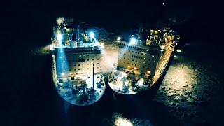 Фото Стыковка атомных ледоколов в Арктике — видео