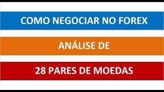 COMO NEGOCIAR NO FOREX - ANÁLISE DE 28 PARES - Vídeo 72 de 365