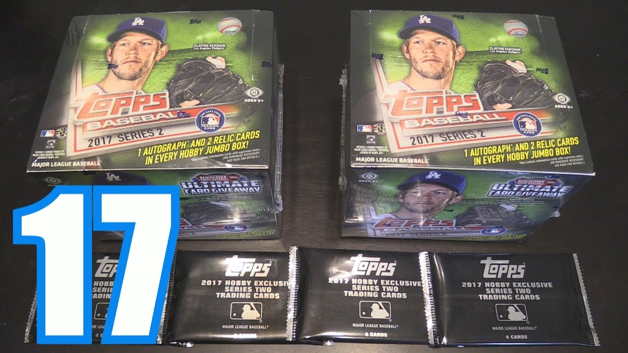 Unboxing 2017 Topps Series 2 Opening Packs 17
