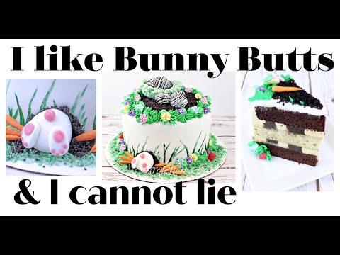 Bunny Butt Cake for Easter Gretchens Vegan Bakery YouTube