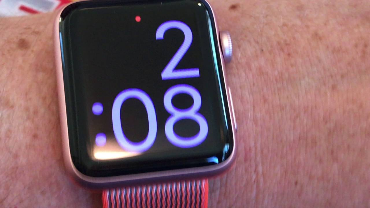 Apple Watch Series 42mm Rose Gold Aluminum Case With Orange Anthracite Woven Nylon Band Youtube