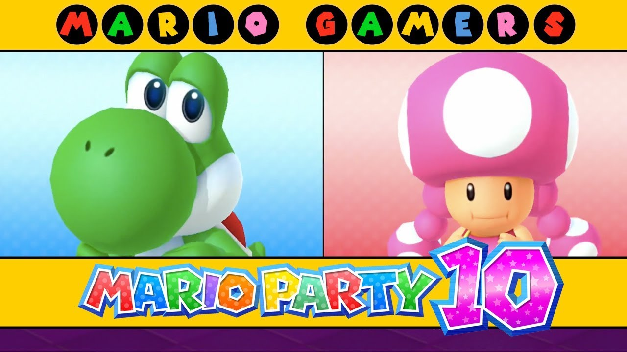 Mario Party 10 - Airship Central (Yoshi vs Toadette) - YouTube